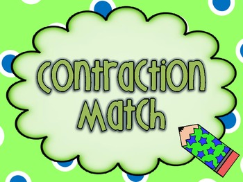 Contraction Matching Game Cards