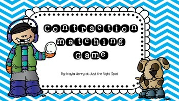 Contraction Matching Game Winter Theme