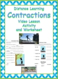 Contraction Ninja Lesson Video and Activities-Distance Learning