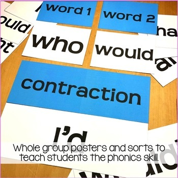 Contractions: Posters, Sorts & Worksheets