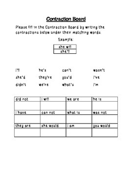 Contraction Packet