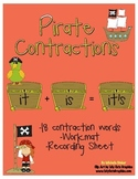 Contraction Pirate Activity - Centers, Small Groups, Independent
