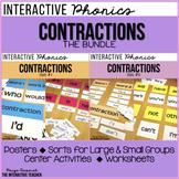 Contractions Activities: Posters, Sorts & Worksheets {BUNDLE}