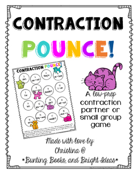Contraction Pounce!- Identifying and Building Contractions Game