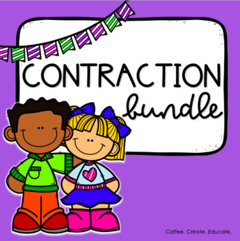 Contraction Practice Bundle, Centers, Games, Worksheets, Contraction Caterpillar