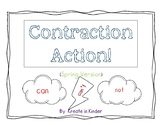 Contraction Practice Craftivity Spring Edition