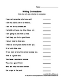 Contraction Practice with 15 Contractions