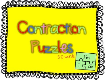 Contraction Puzzles (50 word puzzles)