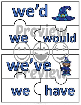 Contraction Puzzles - Wizards
