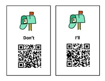Contraction QR Code Scavenger Hunt