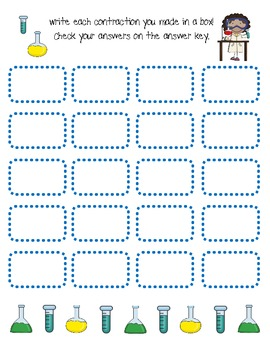 Contraction Reaction! [a game for practicing contractions]