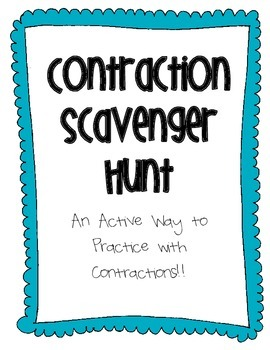 Contraction Scavenger Hunt
