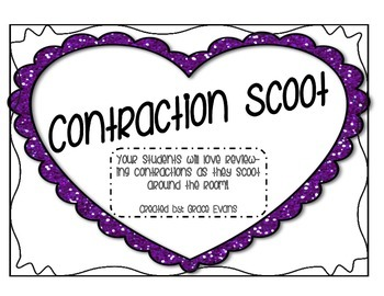 Contraction Scoot: Around the Room Activity