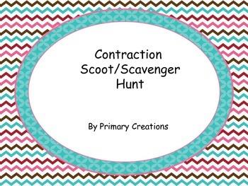 Contraction Scoot/ Scavenger Hunt