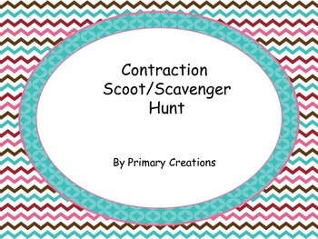 Contraction Scoot/ Scavenger Hunt