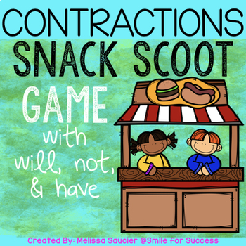 Summer Snack SCOOT {Contractions}