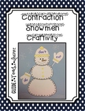 Contraction Snowman Craftivity