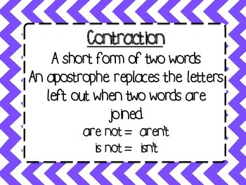 Contraction Song