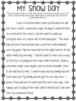 Contraction Story - My Snow Day