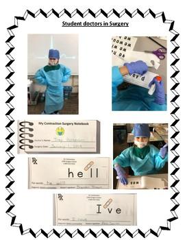 Contraction Bundle - Surgery Cut & Paste Mini Books, Games, Stories, & Sorts
