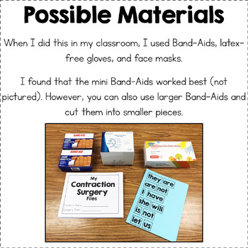 Contraction Surgery - Surgery Materials and Worksheets