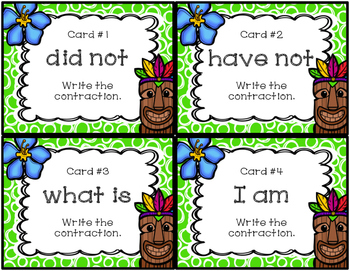 Contraction Task Cards