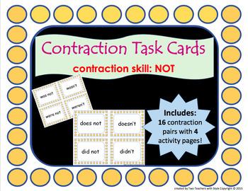 Contraction Task Cards Bundle