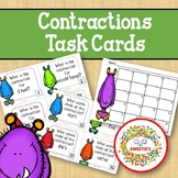 Contraction Task Cards - Monsters