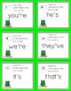 48 Contraction Task Cards, Games and Activities, Anchor Chart, Storage Pocket