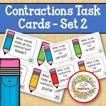 Contraction Task Cards - Set 2