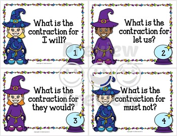 Contraction Task Cards - Set 2 - Wizards