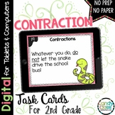 Contraction Task Cards - 2nd Grade Grammar Activity for Go