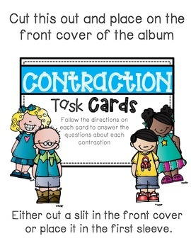Contraction Task cards: Photo book version