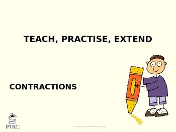Contraction Teaching PowerPoint