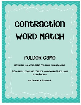 Contraction Word Match