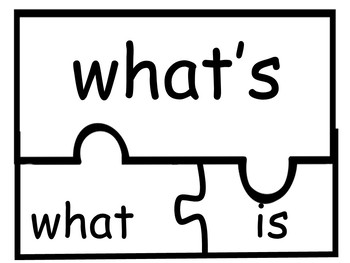 Contraction Word Puzzles
