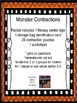 Contraction Word Puzzles with Worksheet