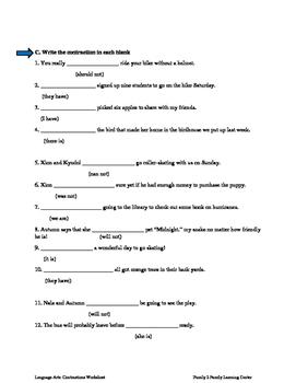 Contraction Worksheet