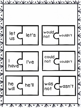 Contraction and Compound Word Activity Pack- CCSS alligned