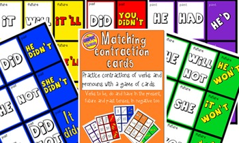 Contraction cards.