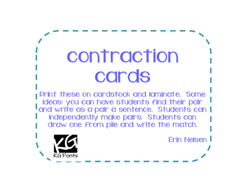 Contraction cards