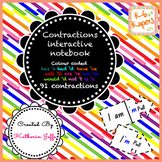 Contraction Interactive Notebook strips