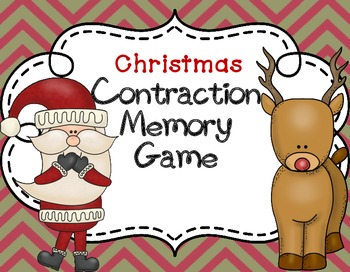 Contraction match Centers Christmas Activities