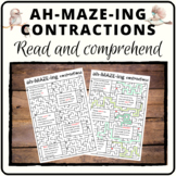 Contraction mazes to engage your students and check comprehension