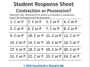 Contraction or Possessive?