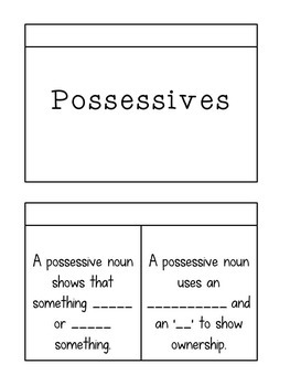Contraction or Possessive BUNDLE