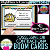 Contraction or Possessive?    Boom Cards™ - Distance Learning