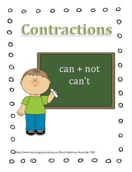 """Contractions, Contractions Matching Game, Contraction """"I h"""