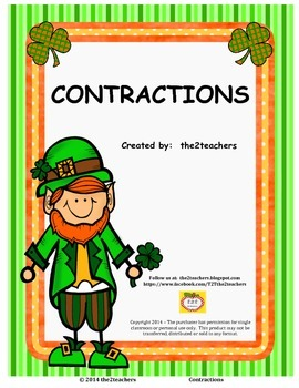 Contractions - St. Patrick's Day Theme