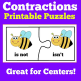 Contractions Worksheets Centers
